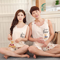 Pajamas for Women Summer  Pyjamas Men Lovers Sports Vest 100% Cotton Women lounge Pajama Sets Couples Matching Pajamas