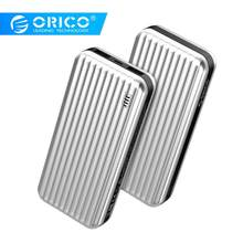 ORICO 20000mAh Valise-style 2-ports Double USB Charge Rapide batterie externe avec indicateur LED pour iPhone Xiaomi Huawei Honor(China)