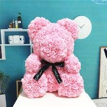 Праздник Искусственные цветы Роза медведь пластик пена Роза плюшевый медведь подружка День Святого Валентина подарок день рождения украшение