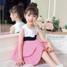 2019 Toddler Girls Summer Clothing Set Kids Clothes For Kids Girl 2019 Fashion Pink Vest Tops + Shorts 2pcs Suit 10 12 14 Years(China)