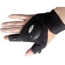 Outdoor Fishing Magic Strap Fingerless Glove LED Flashlight Light Torch Cover Camping Hiking Lights Multipurpose
