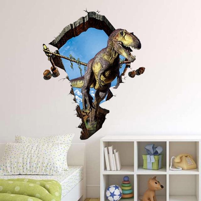 Brand New 3D DIY Vinyl Dinosaur Wall Stickers For Kids Living Room  Waterproof Floor Sticker Mural