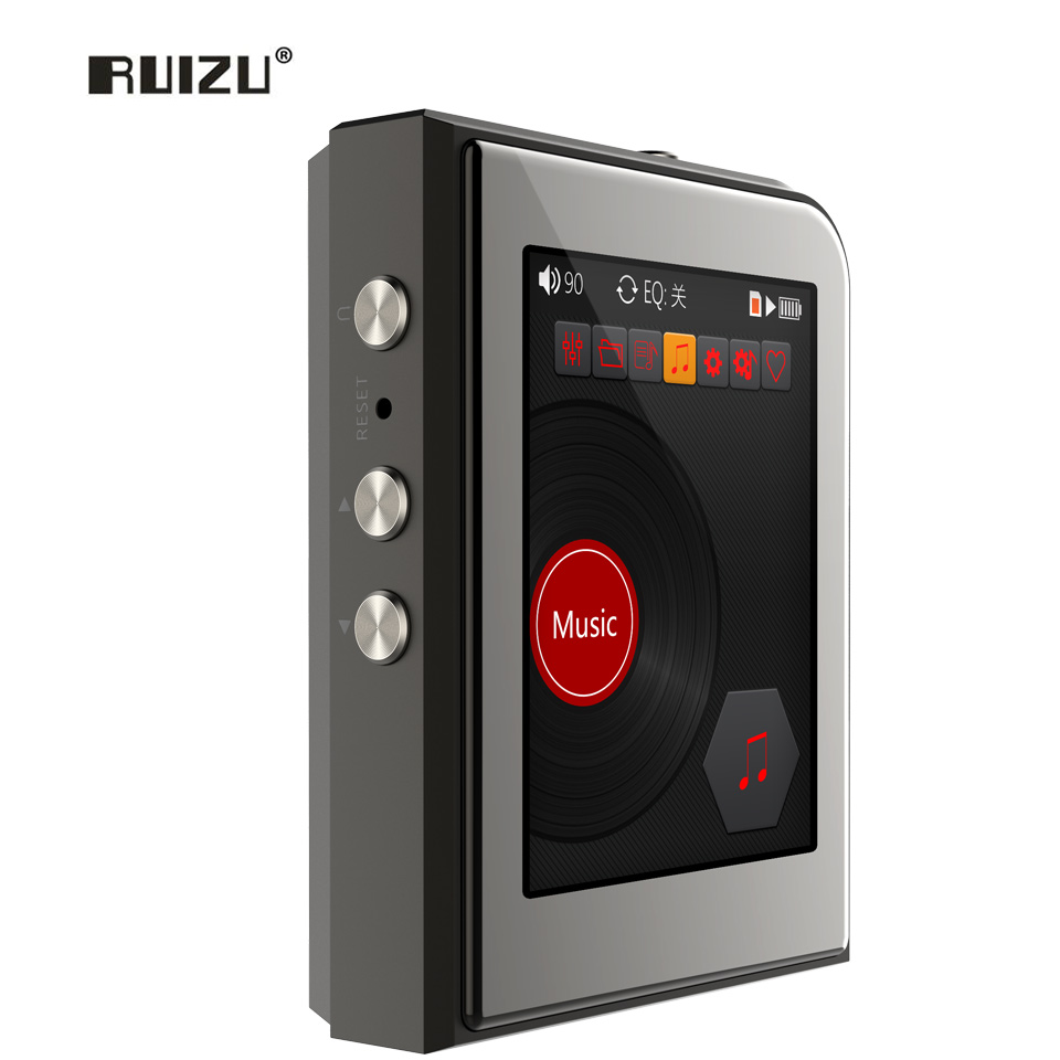 RUIZU A50 DSD256 24bit/192kHz HD Lossless HiFi MINI Sport Music Player With 2.5 Inch Screen MP3 Player Support 128G TF Card