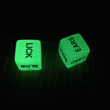1 pair luminous noctilcent english sex dice sexy game 6 sided gambling adult love romance