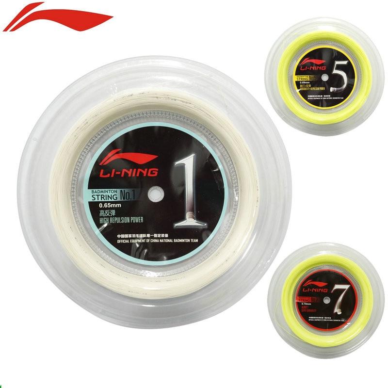 Li-Ning Badminton Strings 200 Meters China Nation Teams Lining No.1/5/7 Big Roll Durability Repulsion Power Net Top Quality
