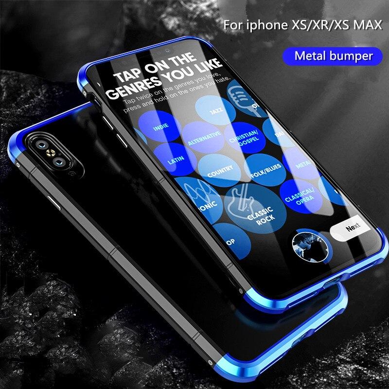 Für iPhone XS/XS MAX Fall Luxus BOBYT 3in1 Stoßfest Aluminium Metall Bumper + PC Dünne Harte Rückseitige Abdeckung fall Für iPhone XR