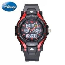 New Disney girls sports pink black blue watch Child fashion LED round digital analog watches Kid cartoon quartz Hot Mickey 55049