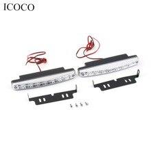 Super White 12V 8 LEDs Auto Car Daytime Running Lights 6000K Fog Lamps Driving Light Lamp High Quality Hot hot