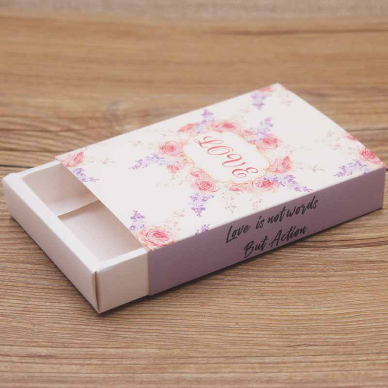New arrival Kraft paper Jewelry Packaging & Display Gift box DIY handmade LOVE Necklace and pendant display and Packaging box