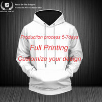 Dropshipping USA Size Customized Full Printing Designs Sweatshirts Streetwear Casual Tracksuit Pullover Unisex 3D Printed Hoodie