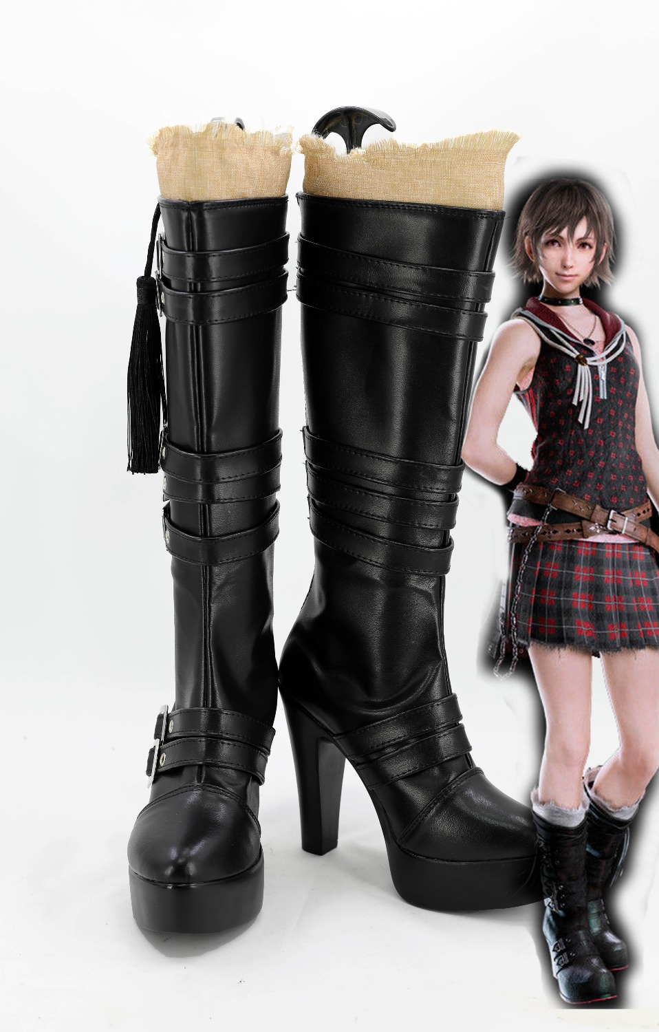 Game FF XV Iris Amicitia Cosplay Shoes Boots image