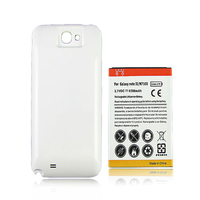 Note2 N7100 Replacement Extended Battery 6500mAh White Back Cover For Samsung Galaxy Note 2 II N7100
