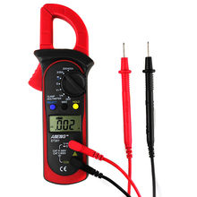 Multímetro digital com braçadeira, medidor de voltagem dmm eletrônico portátil, lcd MSR-C600, multímetro ac/dc