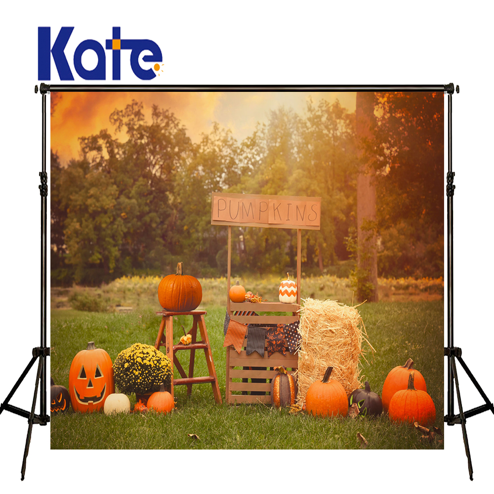 KATE Photo Background 10X10ft Halloween Pumpkin Backgrounds Forest Backdrop Grass Backdrop Children Backdrops For Studio allenjoy background for photo studio full moon spider black cat pumpkin halloween backdrop newborn original design fantasy props