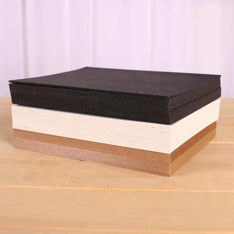 20 pièces/paquet blanc noir kraft papier blanc bloc-notes message carte-cadeau pour l'école fournitures de bureau papeterie vente en gros