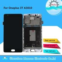 """オリジナル amoled m & セン 5.5 """"oneplus 3 t と A3010 液晶画面ディスプレイ + タッチパネルデジタイザフレーム oneplus 3 t lcd ディスプレイ"""