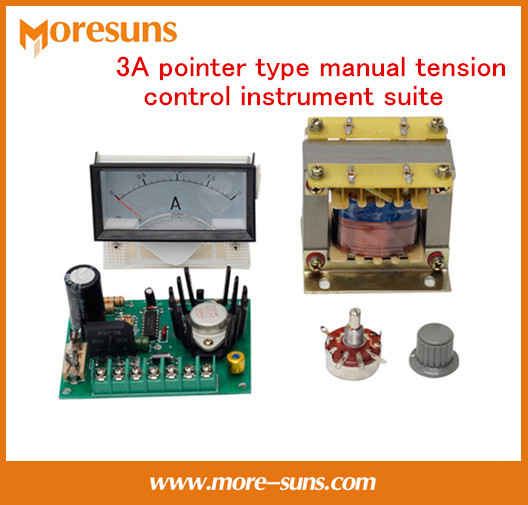 3A pointer type manual tension control instrument suite Magnetic powder clutch brake transformer brake torque current meter