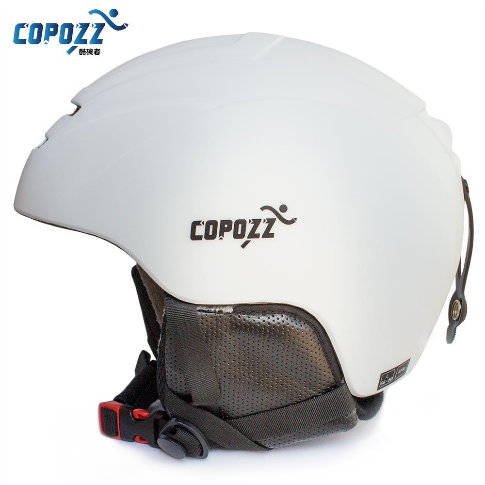 COPOZZ-casco de esquí moldeado integralmente para hombre y mujer, para Snowboard, patinaje, monopatín, esquí, moto de nieve