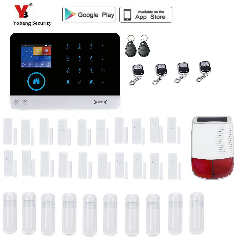 Yobang Security Wireless GSM WIFI Smart Home Security font b Alarm b font Systems Kits Infrared