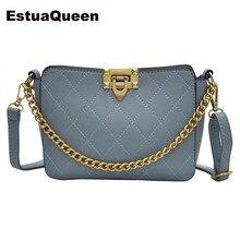 цены Fashion Women Plaid pattern PU Leather Chain Messenger Bag Handbag Ladies Shoulder Crossbody Bags Woman Purse Bolsos Mujer Bolsa