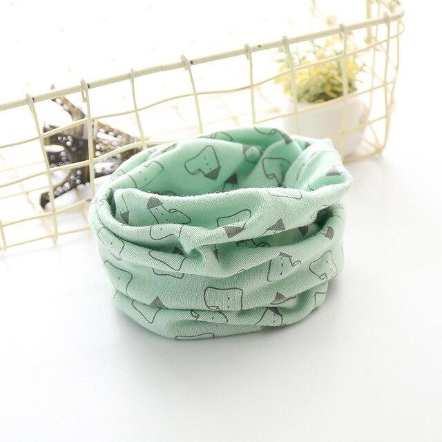Корейский хлопковый детский шарф, снуд с рисунком, клетчатые шарфы с кольцами для девочек, зимний теплый снуд для мальчиков, детский снуд - Цвет: 6