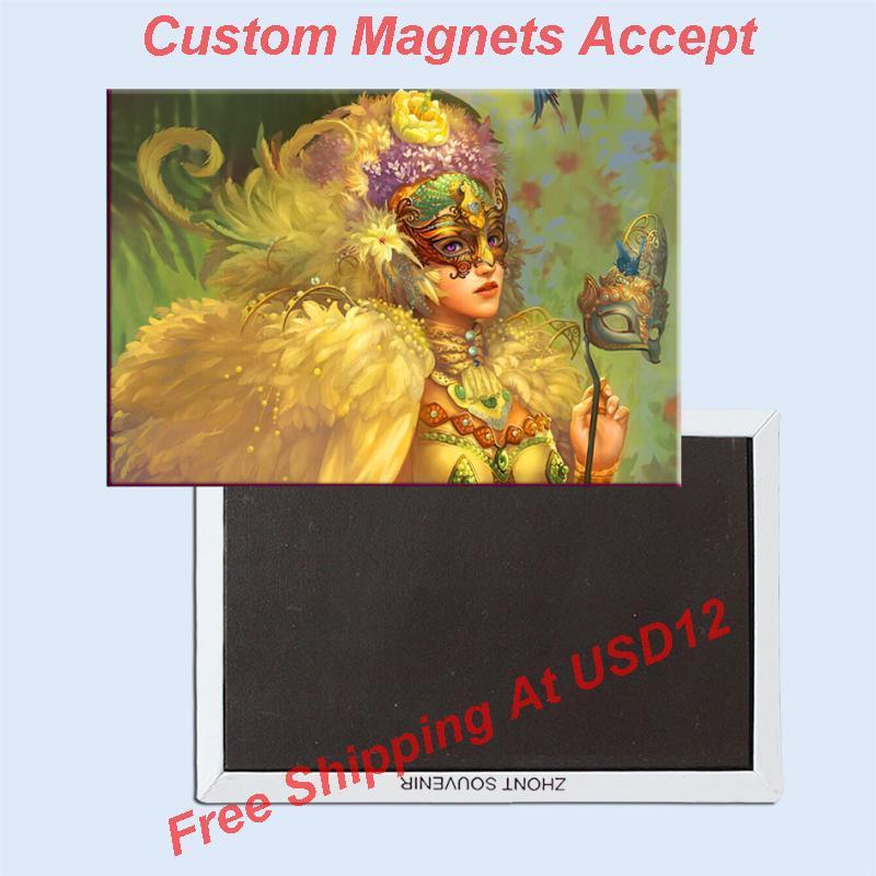 Souvenir Magnets ,Venice Mask Souvenir Photo Fridge Magnet 5636 Travel Gift tourist attractions