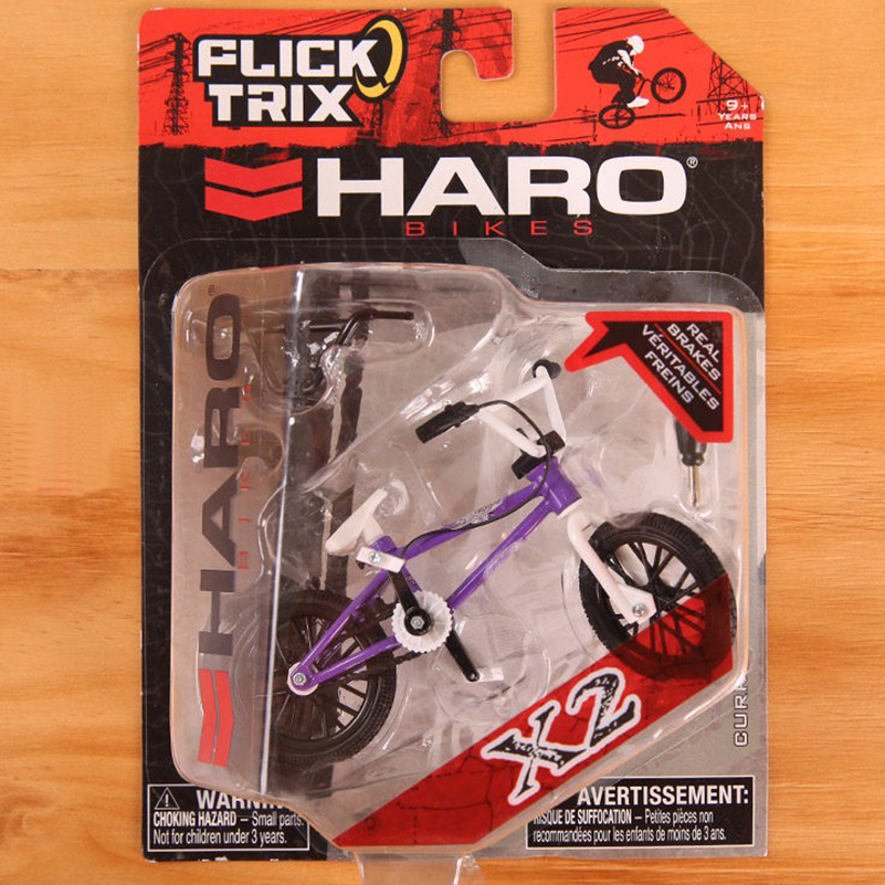 Purple HARO Mini Finger BMX Bicycle Flick Trix Finger Bikes Toys Tech-Deck BMX Model Bike Gadgets Toys For Kids серьги гвоздики эстет золотые серьги с бриллиантами est01с611920b7