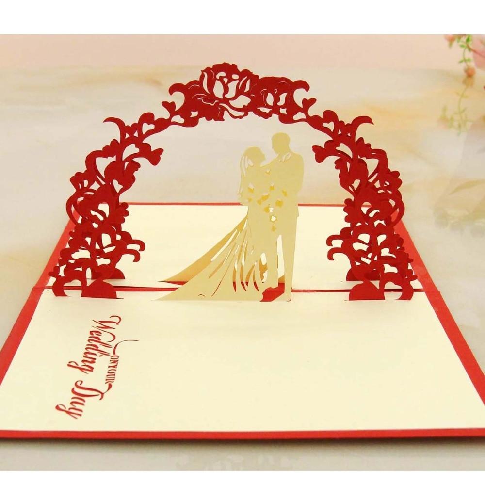 The latest wedding invitation Creative unique Greeting card Handmade ...
