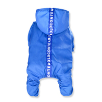 Free Shipping Poncho for Dogs Plastic Solid Dog Waterproof Coat Jumpsuits for Small Puppies Dog Rain Coats Clothing Large YY007