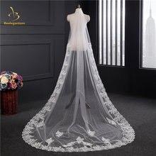 Свадебные вуали белого цвета и слоновой кости с кружевной аппликацией