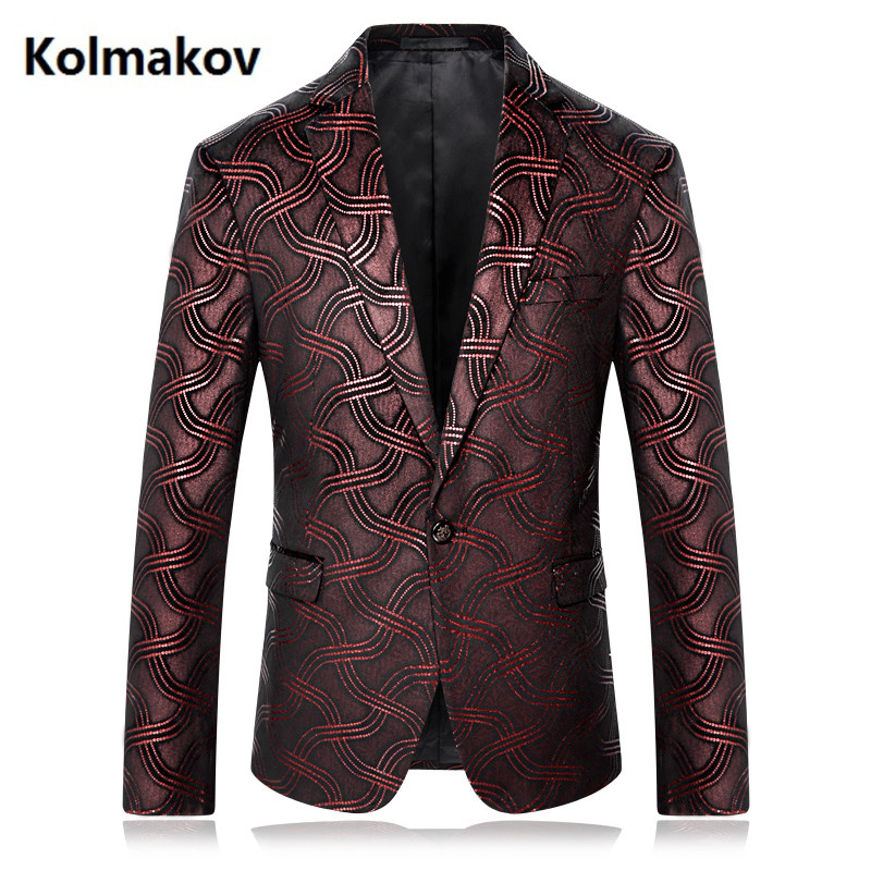 2018 Fashion Mens Striped Blazers Casual Slim Fit Prom Dress Blazer Mens coats Single button Wear Blazers Jacket Men