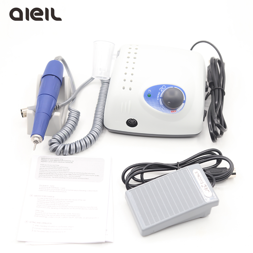 <font><b>Strong</b></font> 210 <font><b>105L</b></font> Nail Drill 65W 35000 Machine Cutters for Manicure Electric Nail Drill Milling Manicure Machine Polish Nail File image