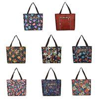 Женская сумка через плечо, нейлоновая сумка с принтом, женская большая емкость, сумки для покупок