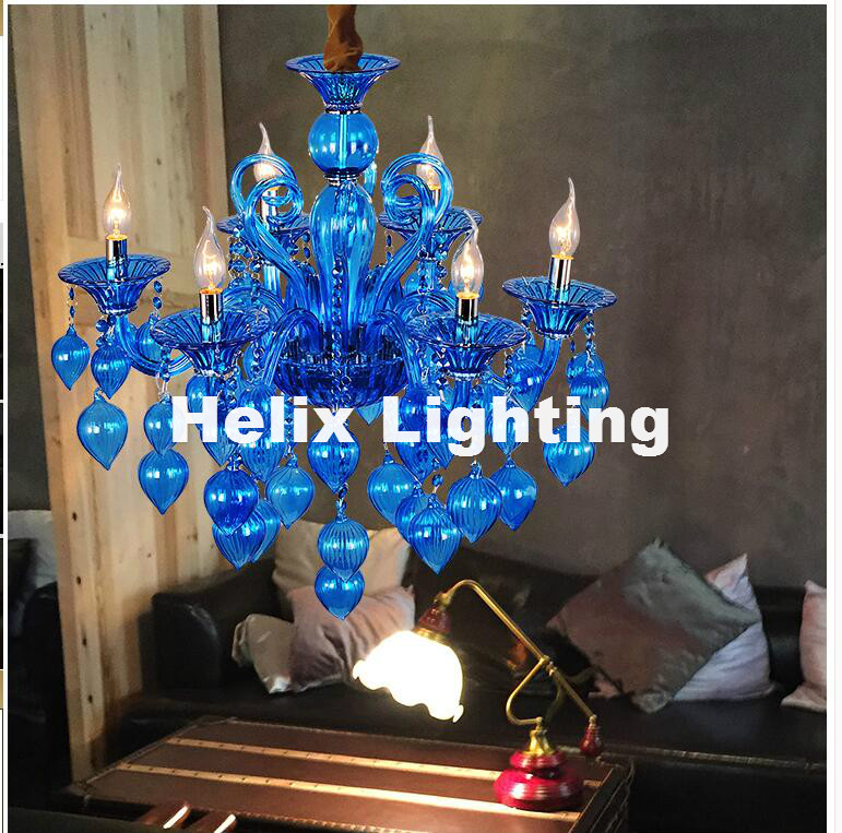 New Arrival Colorful Chandelier Lamps For Coffee Shop Wedding Bar Blue Purple Red Yellow Glass Ball Lamp Modern LED Chandelier 4pcs new for ball uff bes m18mg noc80b s04g