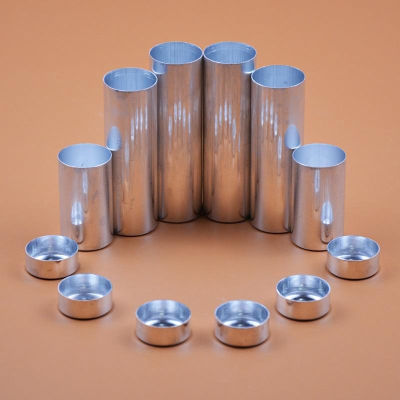 100pcs/lot Dental Valplast Material 25.5*45/77/85mm Dental Empty Aluminum Tube Cartridges For Making Flexible Dentures