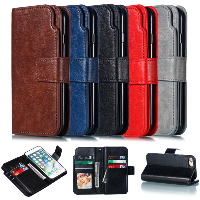Luxury Credit Card Slot Wallet PU Leather Case for iphone Samsung Huawei P20 Pro Mate 10