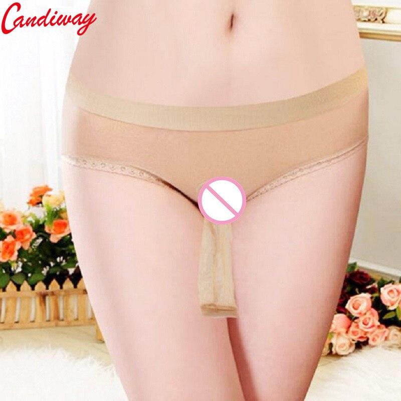 Men Sexy Lace Transparent Underwear Ivory Personal Briefs Short Underpants lingerie Penis Pouch Sheath Wrapped Panty
