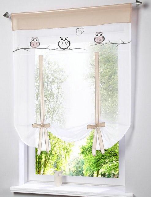 Gufo ricamato cuciture colori onda tende soggiorno balcone - Tende per finestra balcone ...