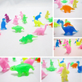 50 PCS/lot Cartoon dinosaur Action Figures toys Sucker kids Mini Suction Cup Collector Capsule model toy for kids