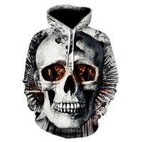 The Punisher Skull Hoodies Long Sleeve Fleece Hip Hop Streetwear Hoodies Men Funny Sweatshirt Autumn New