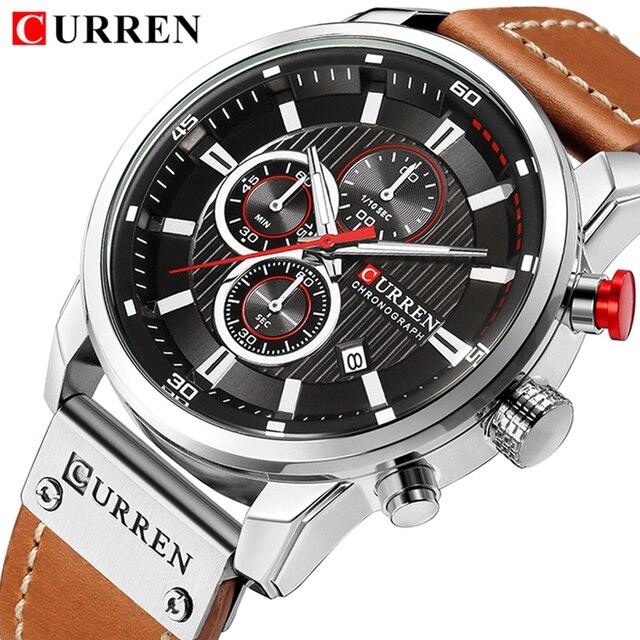 CURREN Top Brand Watches Men Quartz Analog Military Male Watch Men Fashion Casua
