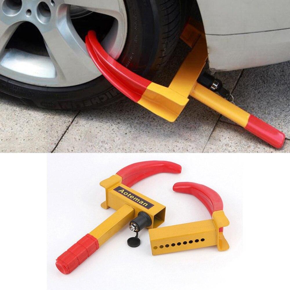 все цены на New Portable Styling Wheel Lock Anti-Theft Truck Tire Clamp Security Trailer Tyre Parking Lock Heavy Duty Car Wheel Clamp Hot