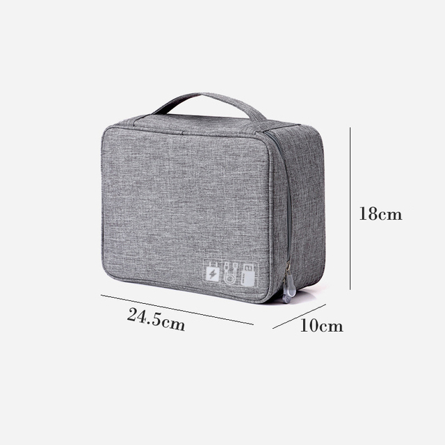 Travel Storage Bag Kit Data Cable U Disk Power Bank Electronic Accessories Digital Gadget Devices Divider Organizer Containers 1