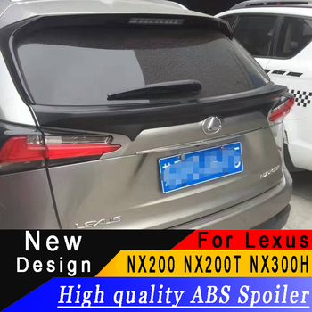 For Lexus NX200 NX200T NX300H 2015 2016 2017 SUV High quality ABS spoiler black or white or prime car rear spoiler