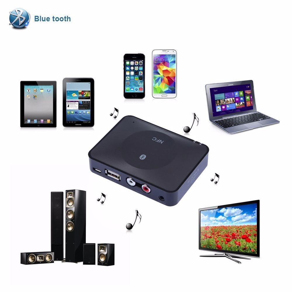 NFC Bluetooth Wireless Desktop Stereo Audio Music Receiver DVD Player Car Speaker USB Adapter  (20)
