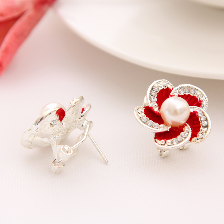 aliexpress  buy romantic flower design stud earring pretty, Beautiful flower