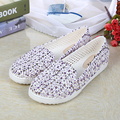 Fashion summer women's lazy fretwork sandals casual shoes women slip on cover heel shoes high quality ledies jelly sandals 7.5