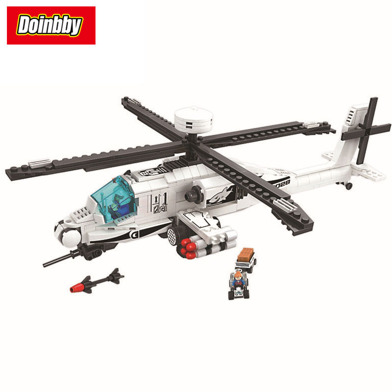 New Bela 8028 Technic Series Apache Military Helicopter F-16 Creative Building Block Set Bricks Kits Toys