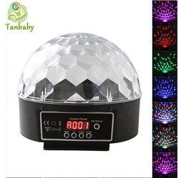 RGB DMX etap światła 6 kanał DMX512 sterowanie cyfrowe LED RGB kryształ Magic Ball efekt światła Disco DJ Party KTV w Oświetlenie sceniczne od Lampy i oświetlenie na