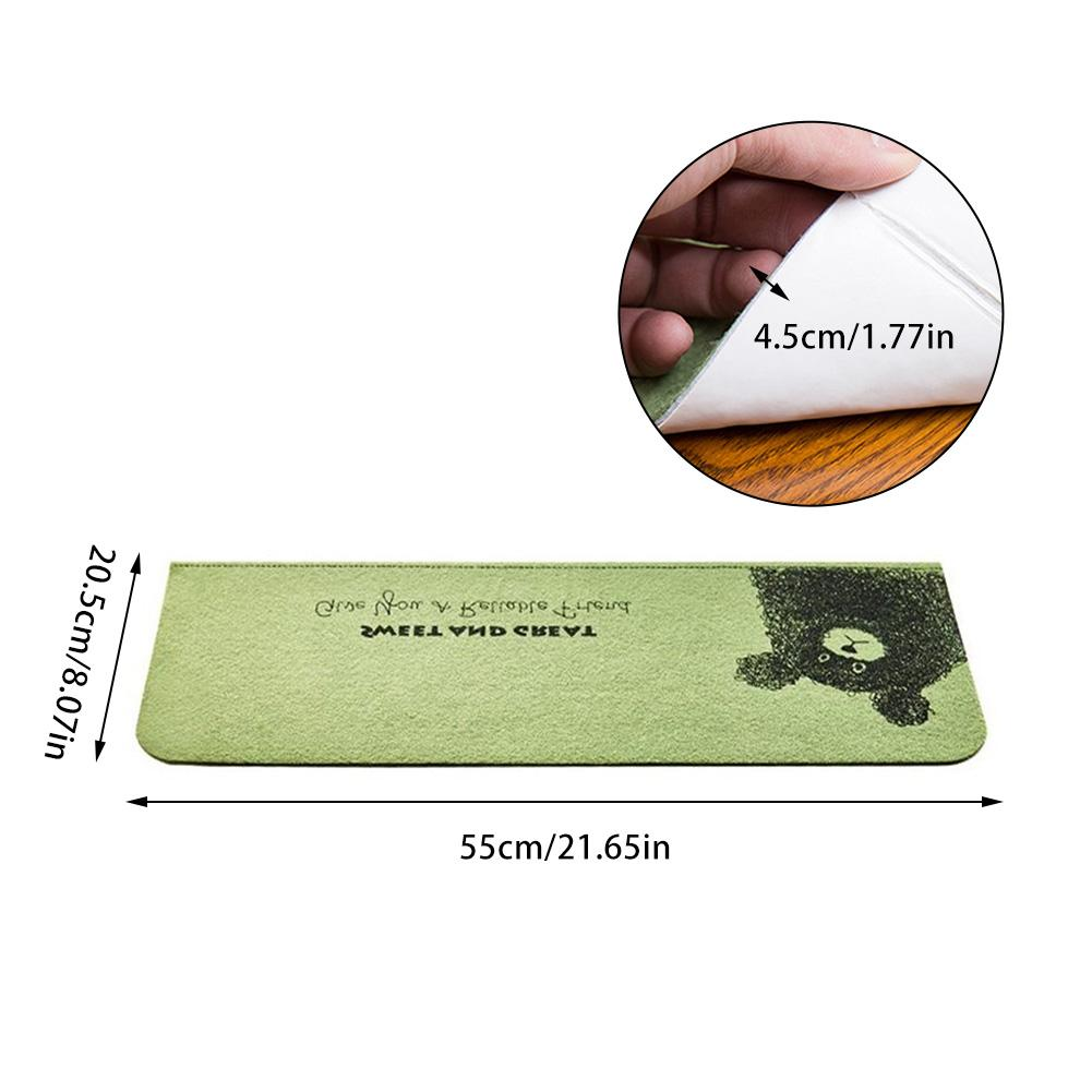 5pcs Soft Pattern Non-slip Stair Mats Pad Water Absorption Stair Carpet Self-adhesive Mat Protector Rug For Home Stair
